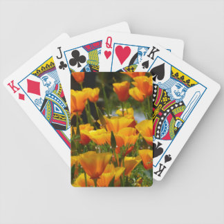 Orange California Poppies_3.1 Bicycle Playing Cards