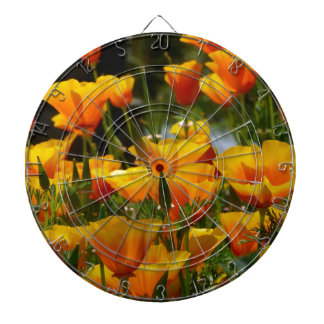 Orange California Poppies_3.1 Dartboard
