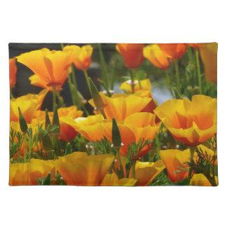 Orange California Poppies_3.1 Placemat