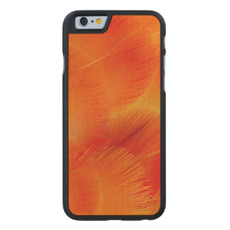 Orange Camelot Macaw Feather Abstract Carved Maple iPhone 6 Case