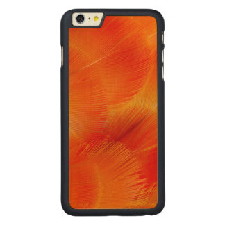 Orange Camelot Macaw Feather Abstract Carved Maple iPhone 6 Plus Case