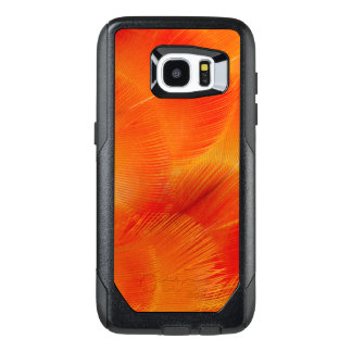 Orange Camelot Macaw Feather Abstract OtterBox Samsung Galaxy S7 Edge Case