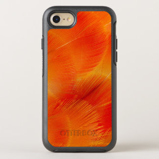 Orange Camelot Macaw Feather Abstract OtterBox Symmetry iPhone 8/7 Case