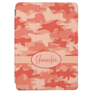 Orange Camo Camouflage Name Personalized iPad Air Cover