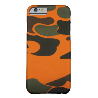 Orange Camo case for iPhone 6 case Barely There iPhone 6 Case