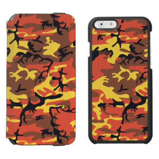 Orange Camouflage Incipio Watson™ iPhone 6 Wallet Case