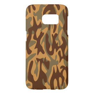 orange camouflage military textures samsung galaxy s7 case
