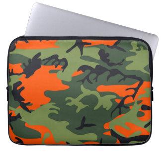 Orange Camouflage Patterns Computer Sleeves