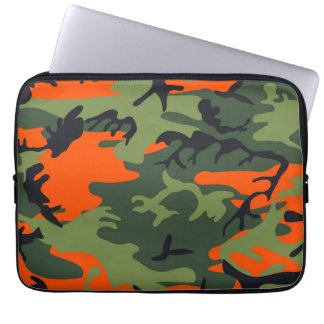 Orange Camouflage Patterns Laptop Sleeve