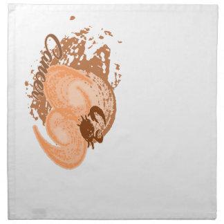 Orange Cancer Horoscope Crab Napkin