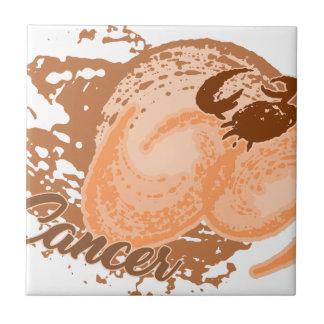 Orange Cancer Horoscope Crab Tile