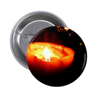 Orange Candle 2 Inch Round Button