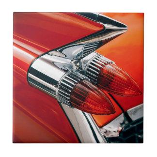 Orange Car Close Up Tile