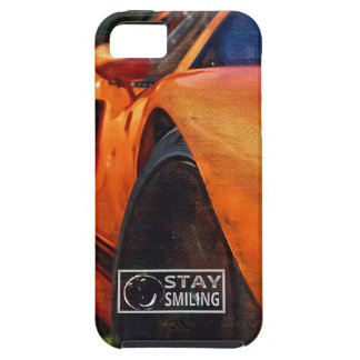 Orange Car Painting Case For The iPhone 5