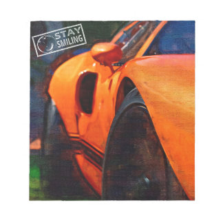 Orange Car Painting Notepad