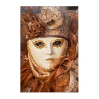 Orange Carnival costume, Venice Acrylic Wall Art