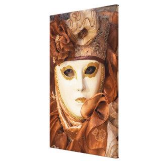 Orange Carnival costume, Venice Canvas Print