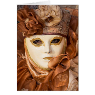 Orange Carnival costume, Venice Card