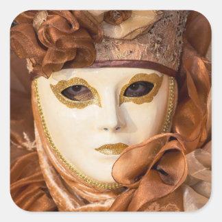 Orange Carnival costume, Venice Square Sticker