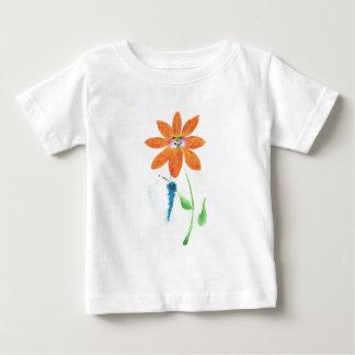 Orange Cartoon Flower with Face Tees