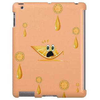Orange CartoonFruit Slice iPad Case