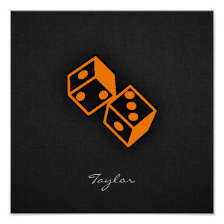Orange Casino Dice Poster