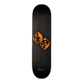 Orange Casino Dice Custom Skate Board