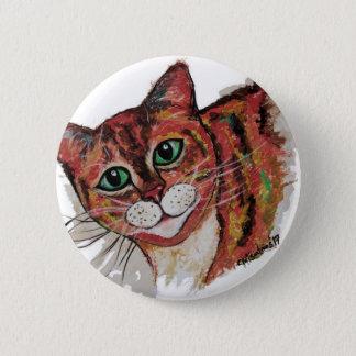 Orange Cat 2 Inch Round Button