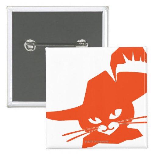 Orange Cat 2 Inch Square Button