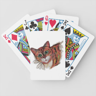 Orange Cat Bicycle Playing Cards
