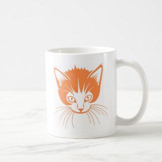 Orange cat classic white coffee mug