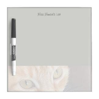 Orange cat closeup dry erase board
