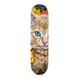 Orange Cat Custom Pro Park Board Skate Board Deck