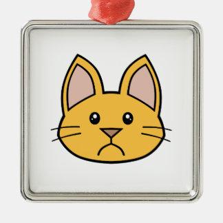 Orange Cat FACE0000002 Ornament 01