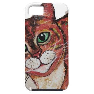 Orange Cat iPhone 5 Case