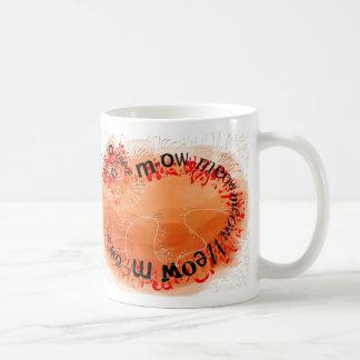Orange cat made of meows basic white mug