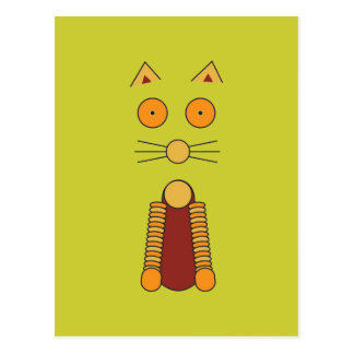 Orange CAT Postcard