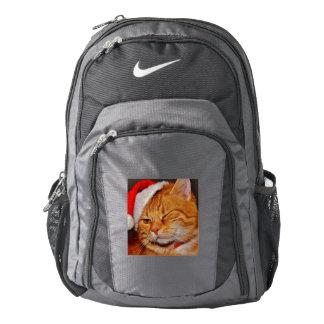 Orange cat - Santa claus cat - merry christmas Backpack