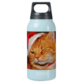 Orange cat - Santa claus cat - merry christmas Insulated Water Bottle