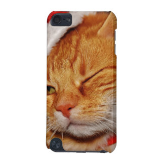 Orange cat - Santa claus cat - merry christmas iPod Touch 5G Case