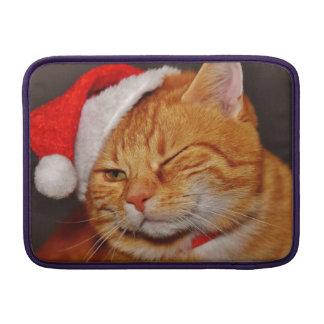 Orange cat - Santa claus cat - merry christmas MacBook Sleeve