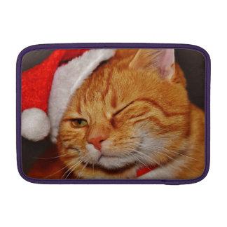 Orange cat - Santa claus cat - merry christmas Sleeve For MacBook Air