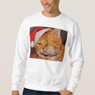 Orange cat - Santa claus cat - merry christmas Sweatshirt