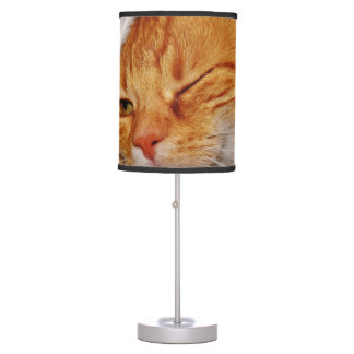 Orange cat - Santa claus cat - merry christmas Table Lamp