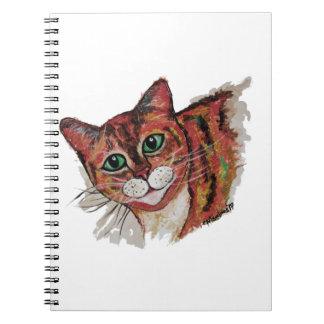 Orange Cat Spiral Notebook