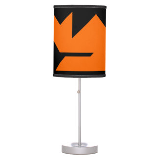 Orange cat Tangram Table Lamp