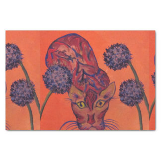 orange cat tissue paper