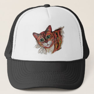 Orange Cat Trucker Hat