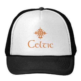 Orange Celtic with Cross Trucker Hat