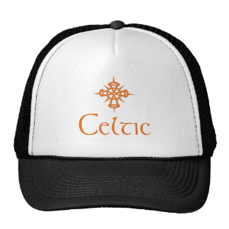 Orange Celtic with Cross Trucker Hat